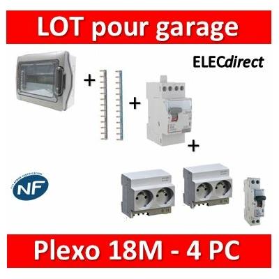 Legrand - Coffret étanche Plexo 18M Pré-équipé pour garage ou abri de jardin 4PC - IP65/IK09