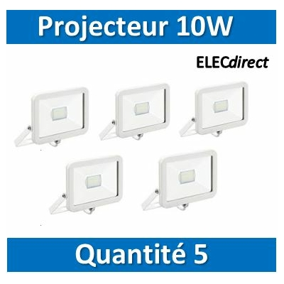 Aric - LOT PROS - Projecteur orientable LED Wink - 10W - 4000K - Blanc - 50389x5
