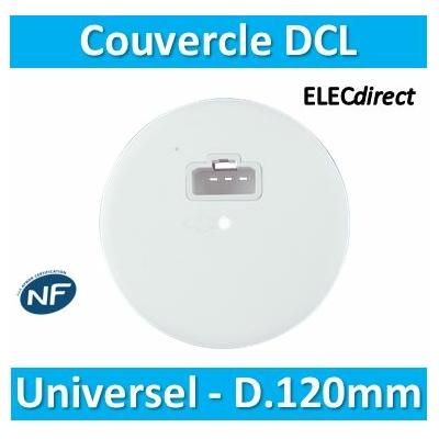 SIB - Couvercle DCL universels pour boîte batibox/SIB en appareillage - D.120mm -  P01120