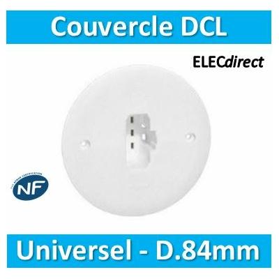 SIB - Couvercle DCL universels pour boîte batibox/SIB en appareillage D. 84mm -  P11084