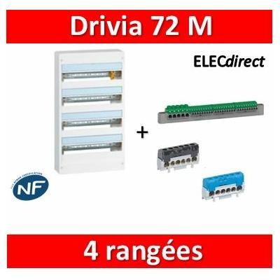 Legrand - Coffret DRIVIA  72 Modules - 4 Rangées de 18M - largeur 355mm - 401224