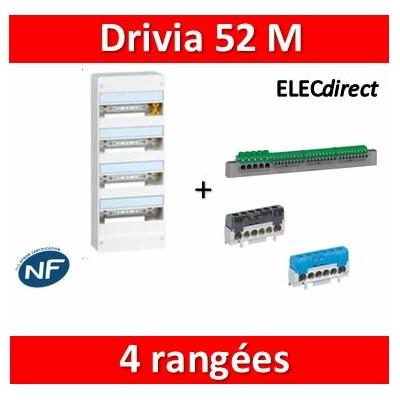 Legrand - Coffret DRIVIA 52 Modules - 4 Rangées de 13M - largeur 250mm - 401214