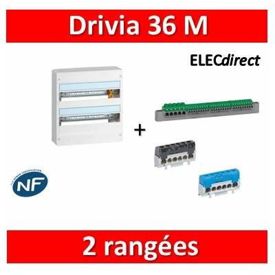 Legrand - Coffret DRIVIA 36 Modules - 2 Rangées de 18M - largeur 355mm - 401222