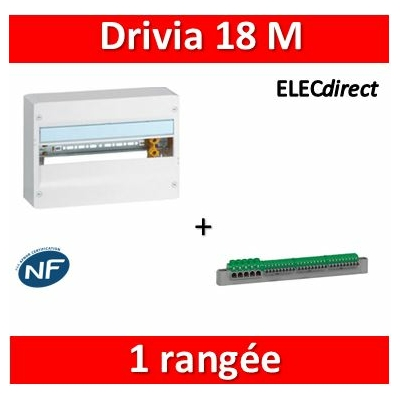 Legrand - Coffret DRIVIA 18 Modules - 1 Rangée de 18M - largeur 355mm - 401221