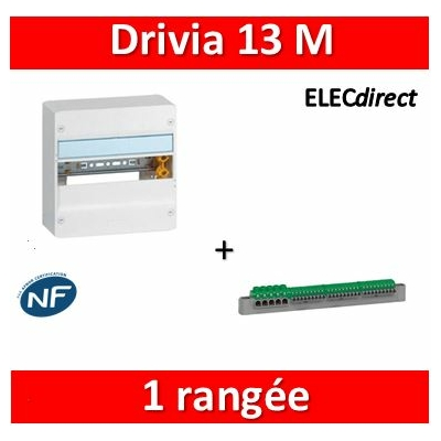 Legrand - Coffret DRIVIA 13 Modules - 1 Rangée de 13M - largeur 250mm - 401211