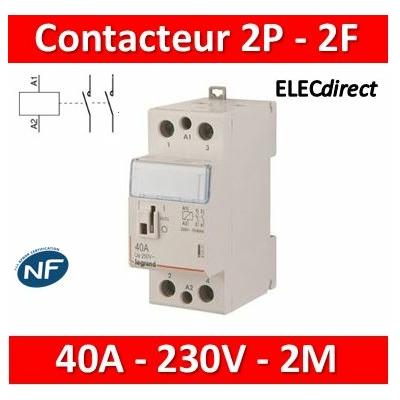 Legrand - Contacteur de puissance bipolaire bobine 230V - 40A - 2F - 2M - 412545