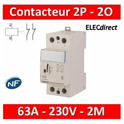 Legrand - Contacteur de puissance bipolaire bobine 230V - 63A - 2O - 2M - 412548