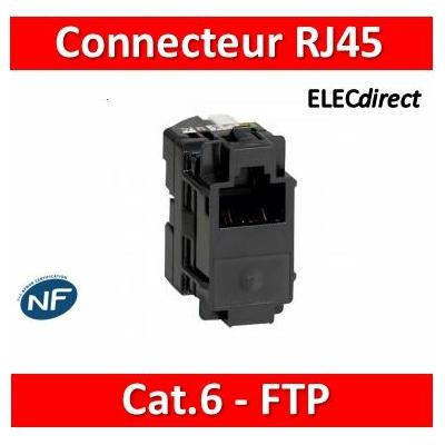 Legrand - Connecteur Cat.6 RJ45 pour coffret double PLAY et basique avec brassage - 413082