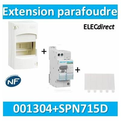 Hager- Extension Parafoudre Hager bipolaire 220V + coffret 4M Legrand - SPN715D+001304+001660