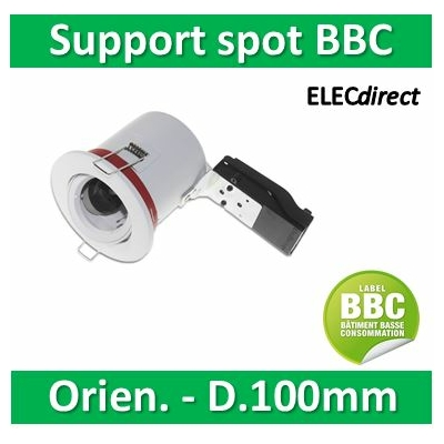 Vision EL - Support Spot Orientable - étanche à l'air - Blanc - D.100mm - BBC - 7719