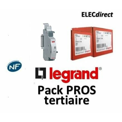 Legrand - LOT PROS - Contact auxiliaire inverseur (CA) - 406258x5