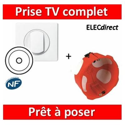 Legrand Céliane - Prêt à poser - Prise TV complet + boîte SIB 1 poste BBC