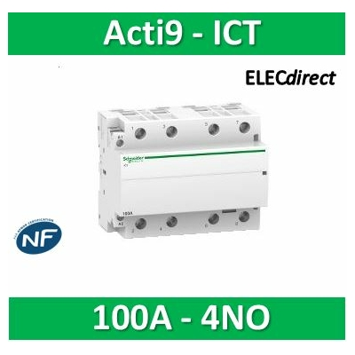 Schneider - Acti9, iCT contacteur 100A 4NO 220...240VCA 50Hz - A9C20884