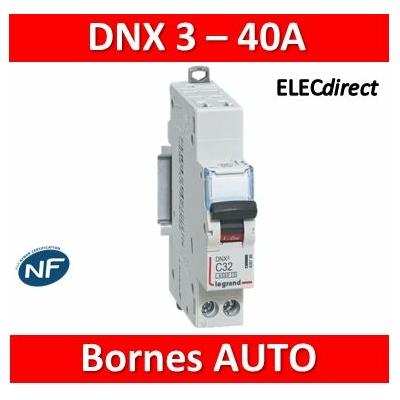 Legrand - Disjoncteur Ph+N DNX³4500 6kA arrivée auto- sortie à vis - 1P+N 230V~ 40A courbe C - 1M - 406887