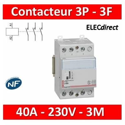 Legrand - Contacteur de puissance CX³ bobine 230V~ - 3P 400V~ - 40A - contact 3F - 3M - 412549