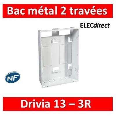 Legrand - Bac métal 2 travées pour coffret 3 rangées 13 modules + platine + coffret de communication - 401448