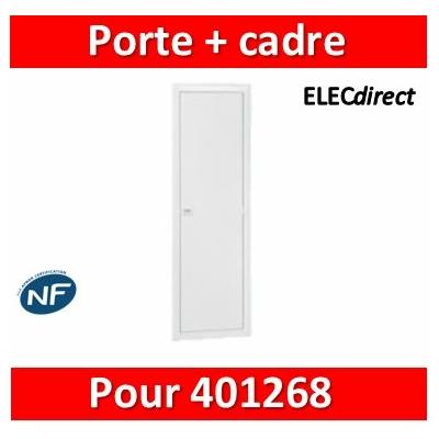 Legrand - Porte réversible avec cadre pour bac 2 travées 13 modules réference 401268 - 401458