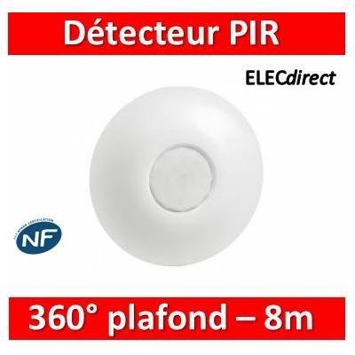 Legrand - Détecteur de mouvement PIR 360° portée 8m IP41 - plafond - Blanc - saillie - 048948