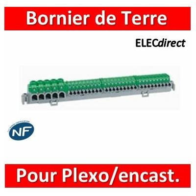 Legrand - Bornier de répartition IP2X  pour coffret Plexo³ 12 modules et coffret encastré - longueur 276mm - 005053