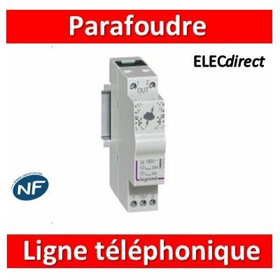 Legrand - Parafoudre pour ligne téléphonique et ligne de communication 10kA à 20kA 180V maximum - 1 module - 412200