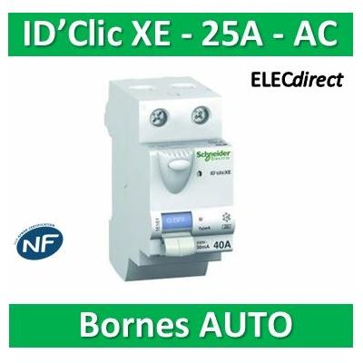 SCHNEIDER - Inter différentiel D'CLIC XE 2P - 25A - 30ma - Type AC - 16157