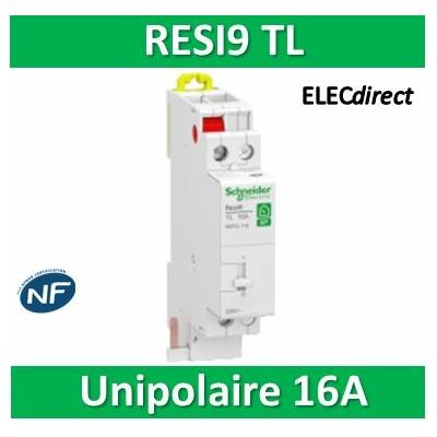 Schneider - Télérupteur RESI9 TL - Unipolaire 16A - 250V - R9PCL116