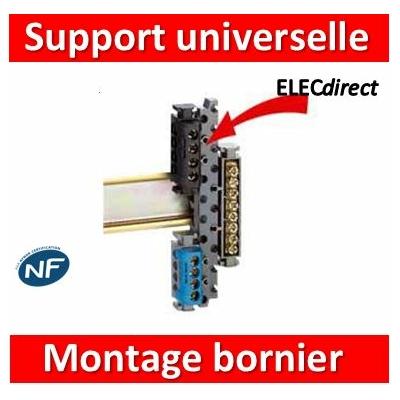 Legrand - Support universel pour monter tous les borniers sur rail symétrique ou asymétrique - 004811