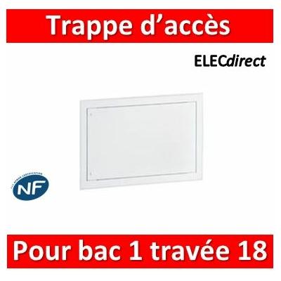 Legrand - Trappe d'accès pour bacs métal 1 travée 18 modules - 401462