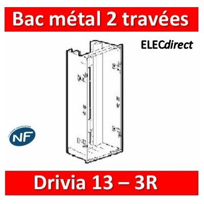 Legrand - Bac métal 2x13 Drivia 13 - 2 travées - coffret 3R + platine + coffret com. - 401447