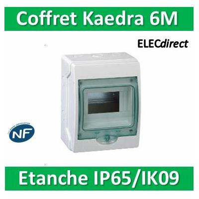 Schneider - coffret étanche Kaedra 159 x 200 mm - 6 modules - 13958