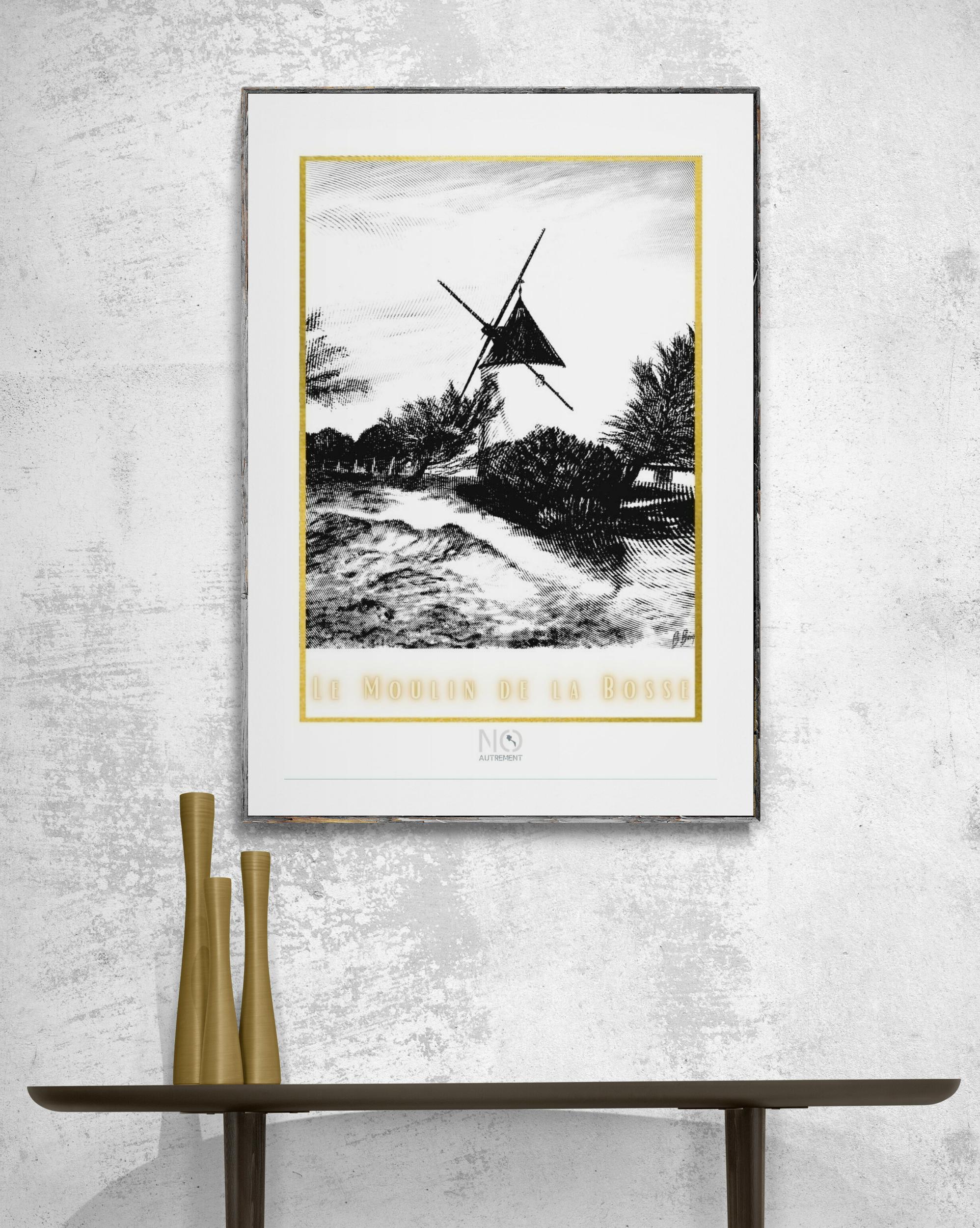 Affiche Le moulin de la bosse