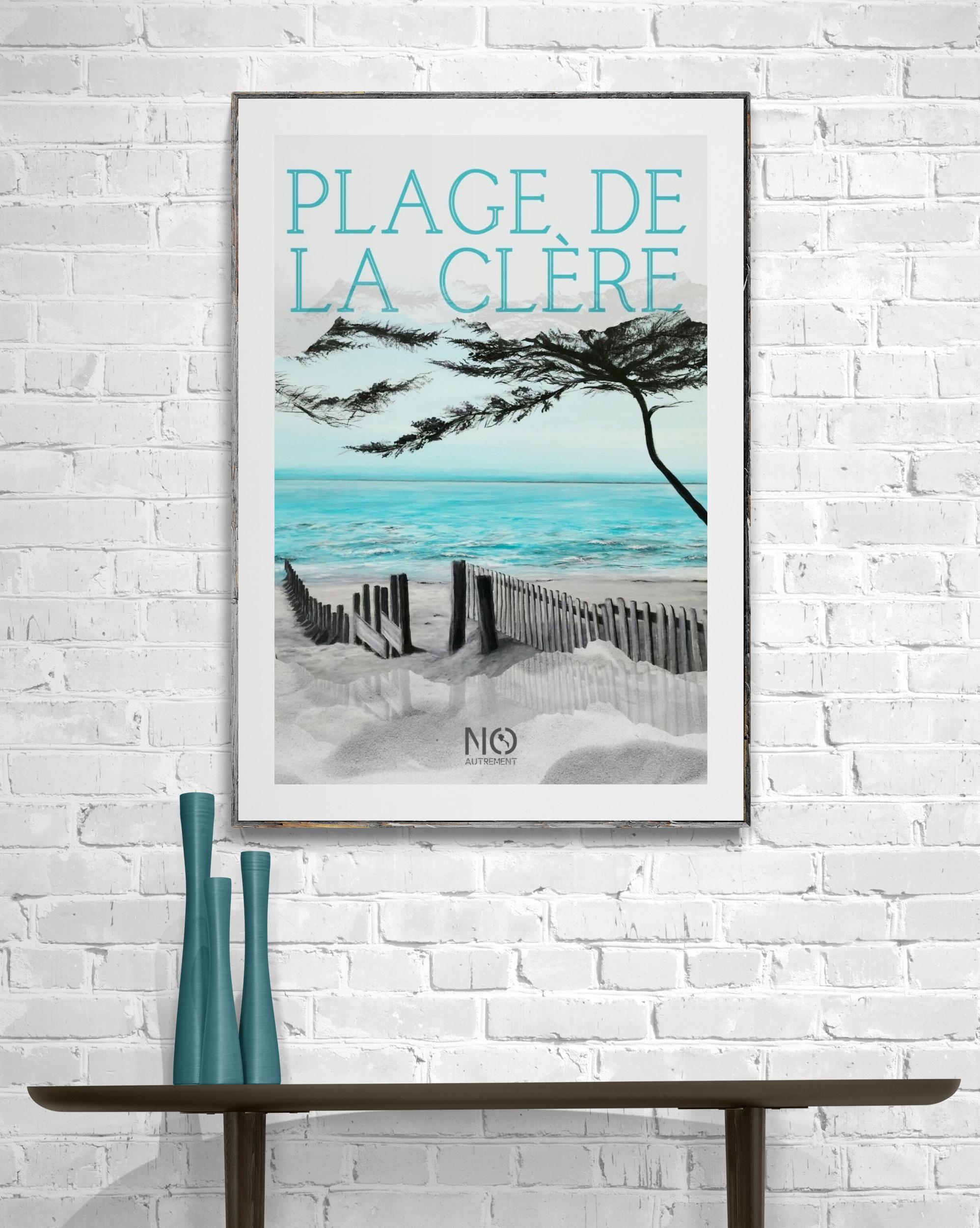 Affiche plage de la clère