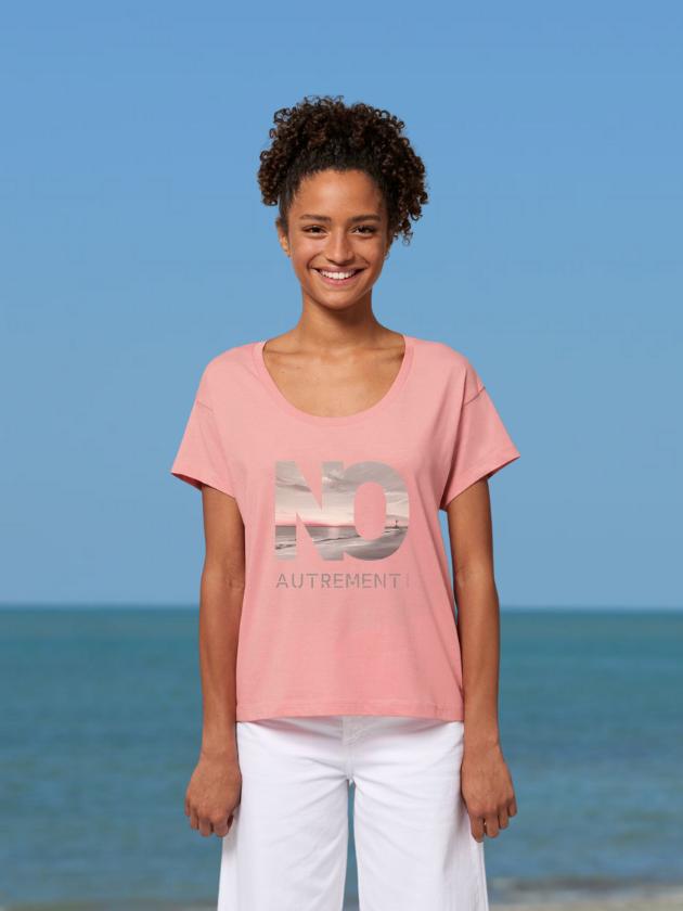 T-shirt loose pink