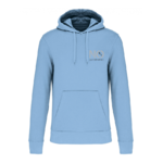 Hoodie 280 sky blue  logo NO autrement