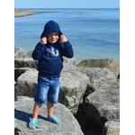 Mini Hoodie ART French navy junior 3-4 ans porté par Enzo (2)