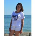 T shirt Loose Blanc XS porté par Céline