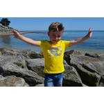 Mini T shirt ART Loptimiste 3-4 ans porté par Enzo 2