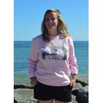 Sweat ART rose S porté par Marion