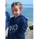 Mini Hoodie signature NO marine  3-4 ans porté par Alice
