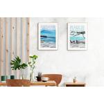 Lestacade et la plage de la Clère, affiches NO autrement 40x60 en situation