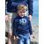 Mini Hoodie ART French navy junior 3-4 ans porté par Enzo