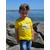 Mini T shirt ART L'optimiste 3-4 ans porté par Enzo