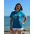 T shirt ART L'océan XS porté par Céline