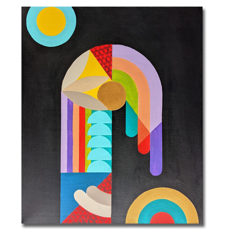 Joligolo - Tableau déco Peinture acrylique sur toile 45x55cm