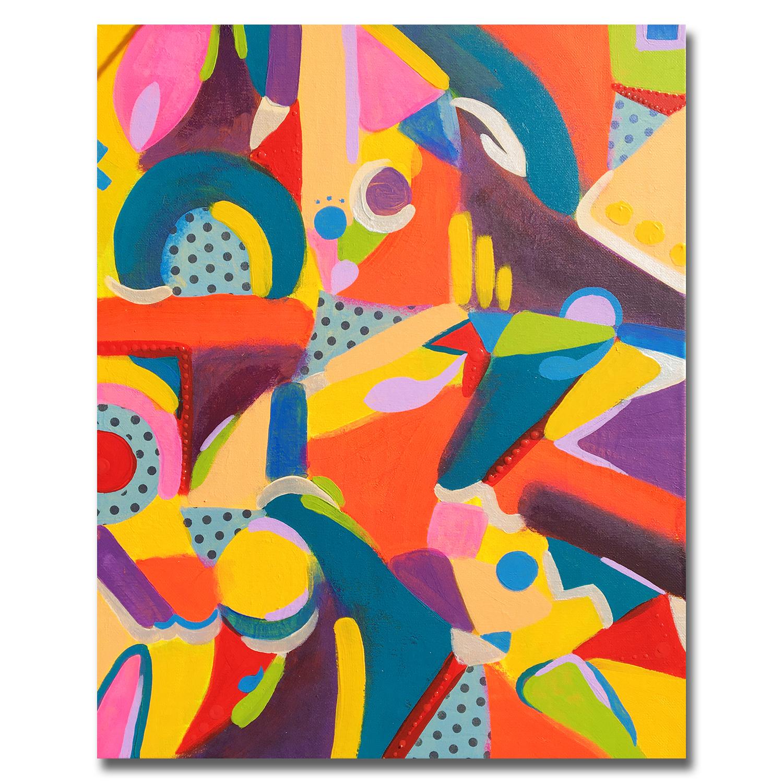 tableau-peinture-tendance-artiste_coloré_moderne_formes_bleu-orange-violet