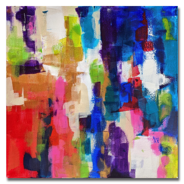 Vivaldi - Tableau déco Peinture acrylique sur toile 50x50cm