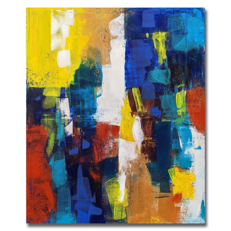 Mozart - Tableau déco Peinture acrylique sur toile 60x70cm