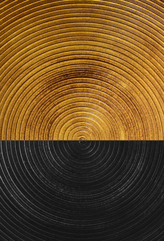 Poster-Decoration-Art-Mural_Contemporain_Minimaliste_Forme_Or_Gold_Cercles1_40x60cm