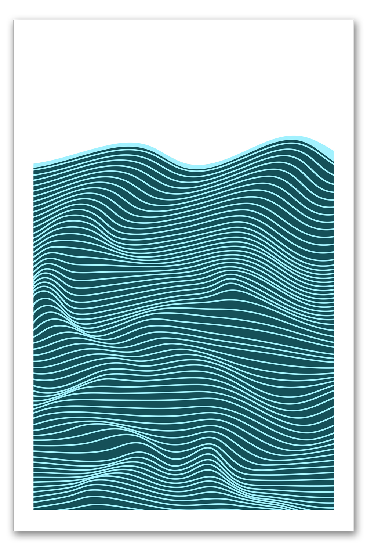 Des vagues en mer