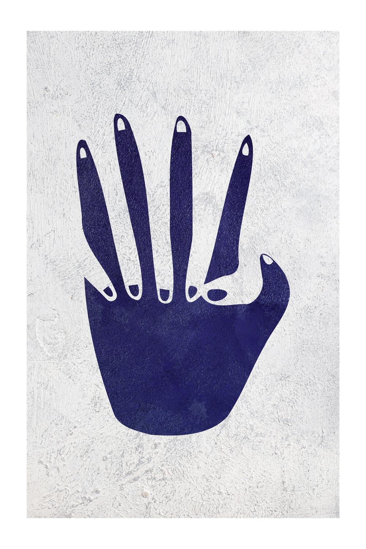 Poster-Decoration-Art-Mural_Contemporain_Minimaliste_formes-bleu-marine_40x60cm
